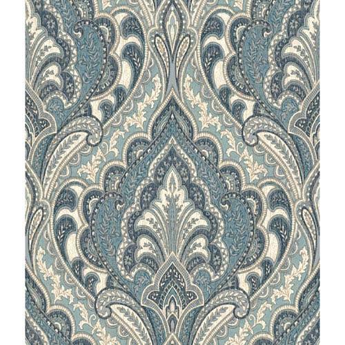 Menswear Hemmingway Blue Removable Wallpaper