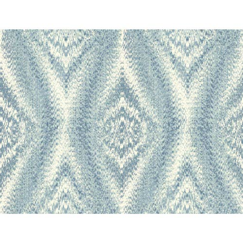 Menswear Chaucer Blue Removable Wallpaper-SAMPLE SWATCH ONLY