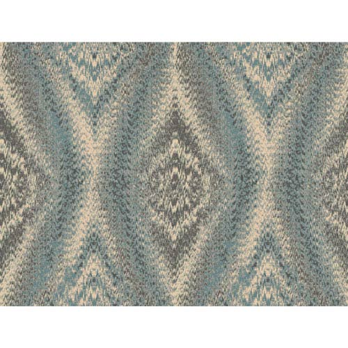 York Wallcoverings Menswear Chaucer Blue and Brown Removable Wallpaper