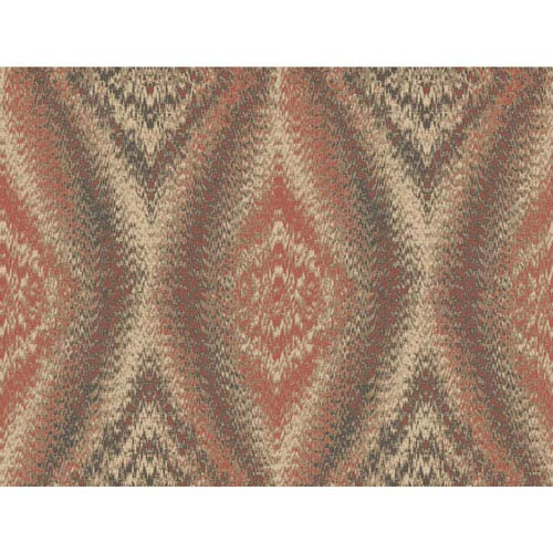 York Wallcoverings Menswear Chaucer Orange and Beige Removable Wallpaper