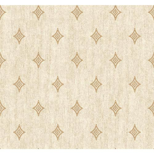 Menswear Voltage Beige and Metallic Removable Wallpaper