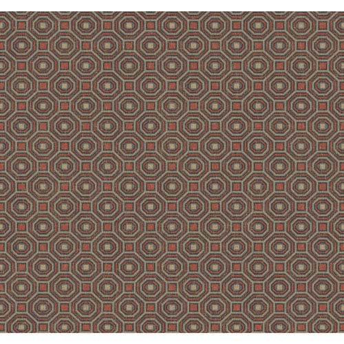York Wallcoverings Menswear Pragmatic Red and Black Removable Wallpaper-SAMPLE SWATCH ONLY
