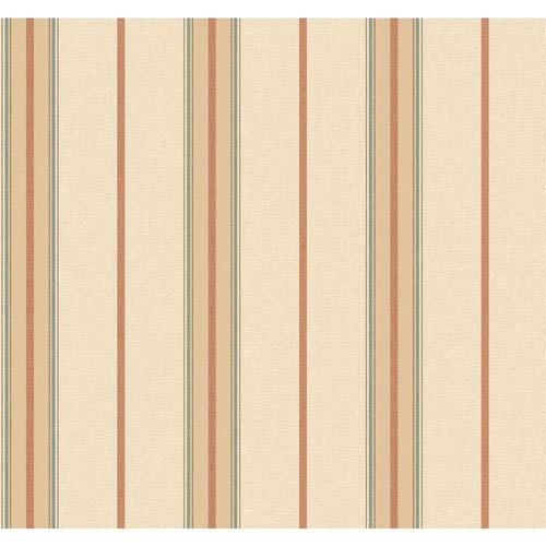 York Wallcoverings Menswear Ralph Stripe Beige and Yellow Removable Wallpaper