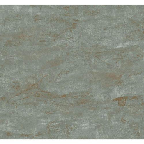 Ronald Redding Medley Calla Terra Green Wallpaper