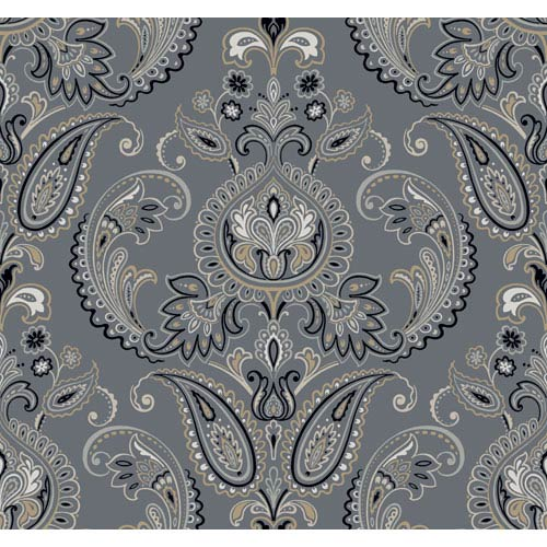 York Wallcoverings Candice Olson Inspired Elements Tasara Wallpaper: Sample Swatch Only