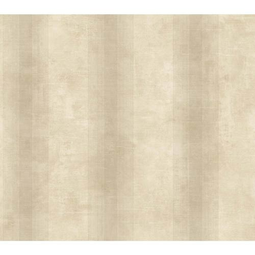 York Wallcoverings Nantucket Beige and Dusty Beige Woven Stripe Wallpaper: Sample Swatch Only