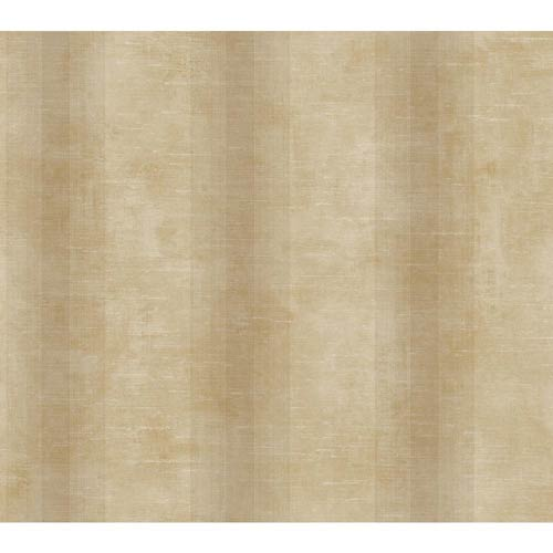 York Wallcoverings Nantucket Sand, Dusty Sand and Cream Woven Stripe Wallpaper: Sample Swatch Only