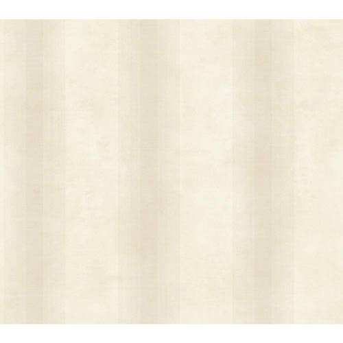York Wallcoverings Nantucket Cream and Ecru Woven Stripe Wallpaper: Sample Swatch Only