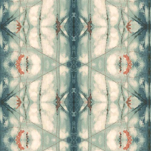 Cloud Nine Transcendence Blue and Orange Removable Wallpaper