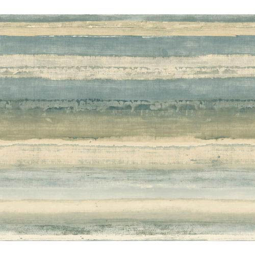 York Wallcoverings Cloud Nine Perspective Blue and Beige Removable Wallpaper-SAMPLE SWATCH ONLY