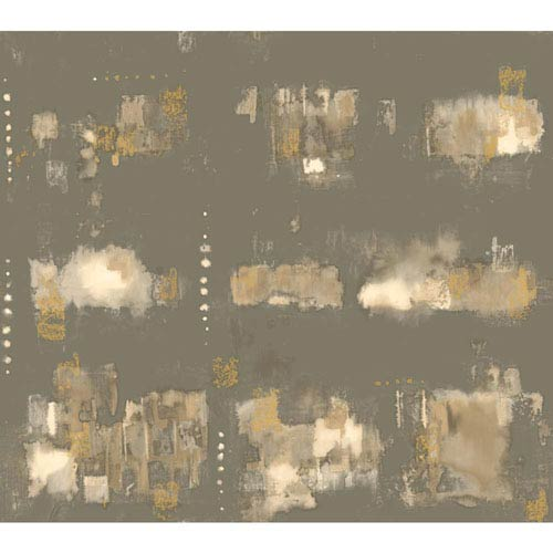 York Wallcoverings Cloud Nine City Lights Brown and Beige Removable Wallpaper