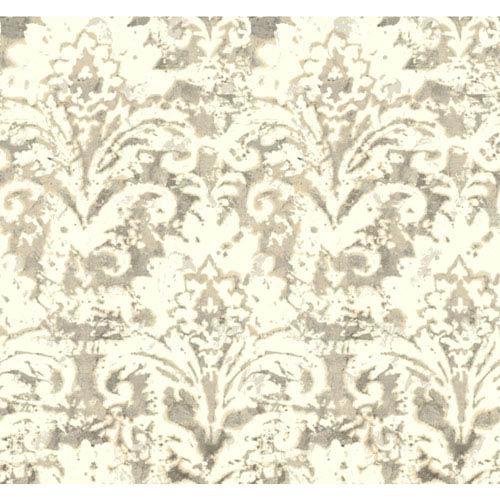 Cloud Nine Batik Damask Beige Removable Wallpaper