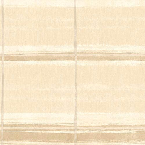 York Wallcoverings Cloud Nine Window Shopping Beige and Brown Removable Wallpaper-SAMPLE SWATCH ONLY