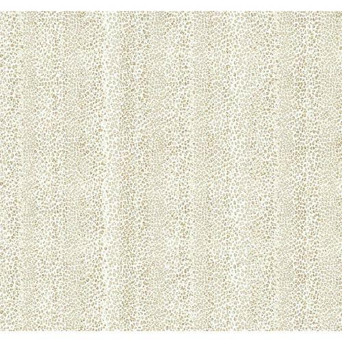 Natural Elements Beige and Brown Leopard Stripe Wallpaper