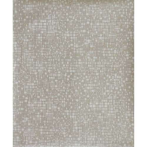 York Wallcoverings Antonina Vella Modern Metals Interactive White and Gold Wallpaper - SAMPLE SWATCH ONLY