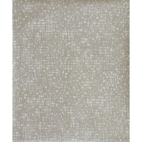 York Wallcoverings Antonina Vella Modern Metals Interactive White and Gold Wallpaper