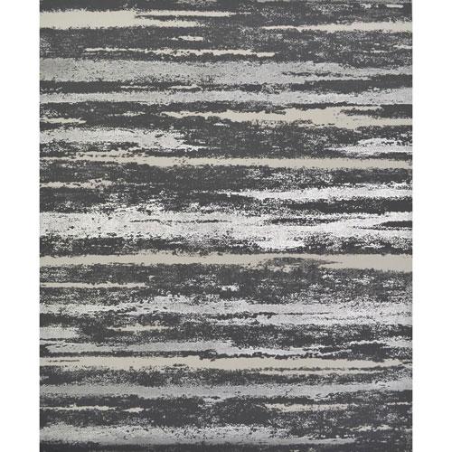 Antonina Vella Modern Metals Atmosphere Black and Silver Wallpaper