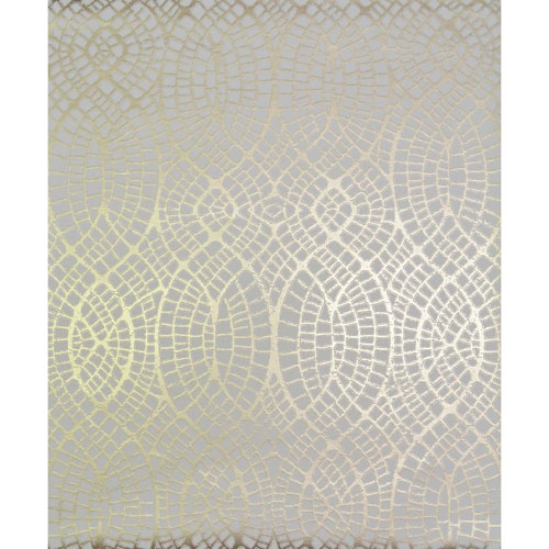 York Wallcoverings Antonina Vella Modern Metals Tortoise Almond and Gold Wallpaper