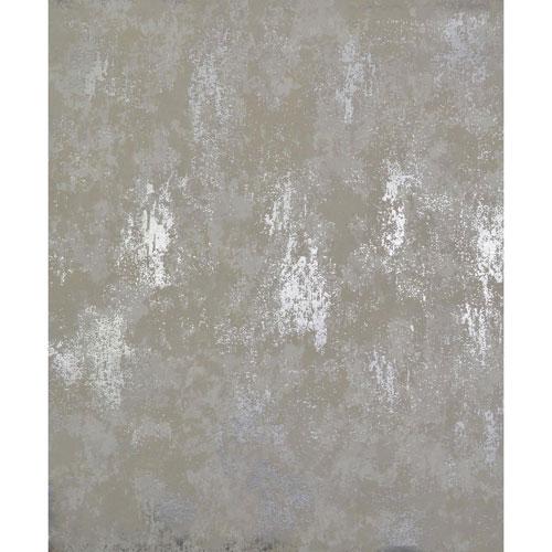 Antonina Vella Modern Metals Nebula White and Silver Wallpaper