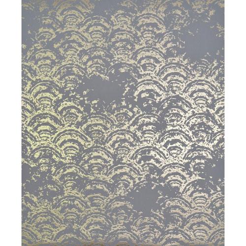 Antonina Vella Modern Metals Eclipse Grey and Gold Wallpaper