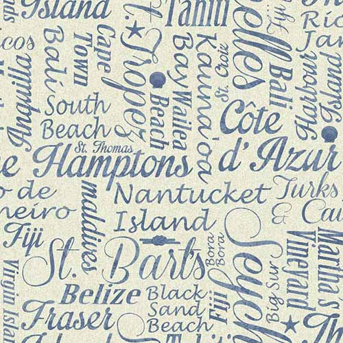 Nautical Living Beige Luxury Beaches Wallpaper: Sample Swatch Only