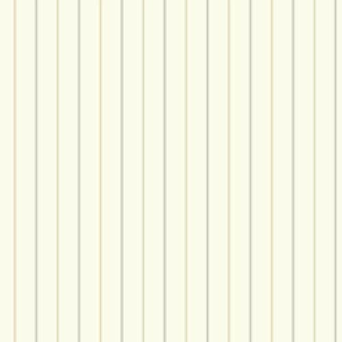 York Wallcoverings Nautical Living Off White and Beige 3-Pinstripe Wallpaper: Sample Swatch Only