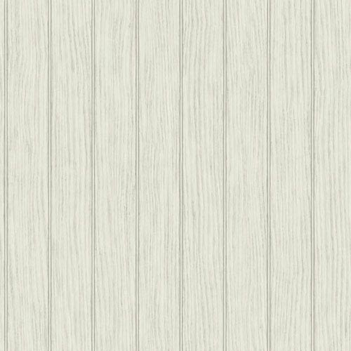 York Wallcoverings Nautical Living Off White and Grey Bead Board Wallpaper