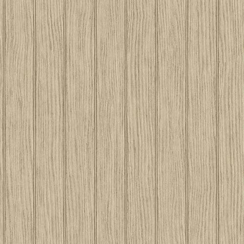 York Wallcoverings Nautical Living Ecru and Tan Bead Board Wallpaper: Sample Swatch Only
