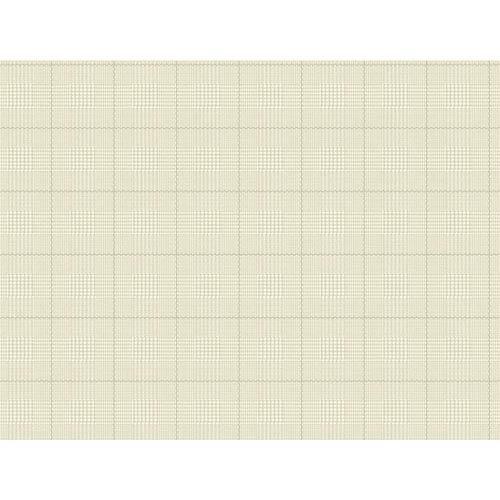 York Wallcoverings Nautical Living White and Beige Harris Plaid Wallpaper