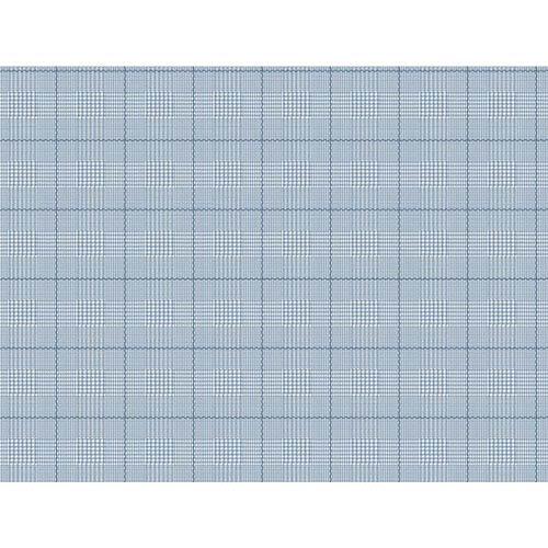 York Wallcoverings Nautical Living White and Marine Blue Harris Plaid Wallpaper
