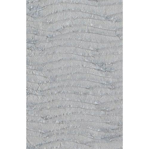 Ronald Redding Designer Resource Metallic Silver Grasscloth Pleated Paper Wallpaper