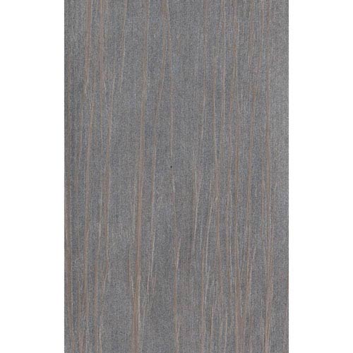 Ronald Redding Designer Resource Metallic Silver and Light Taupe Grasscloth Vertical Organic Wallpaper: Sample Swatch Only