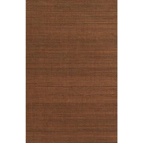 Ronald Redding Designer Resource Metallic Copper and Brown Grasscloth Wallpaper