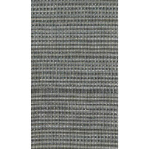 Ronald Redding Designer Resource Metallic Gold and Grey Grasscloth Glitter Woven Wallpaper