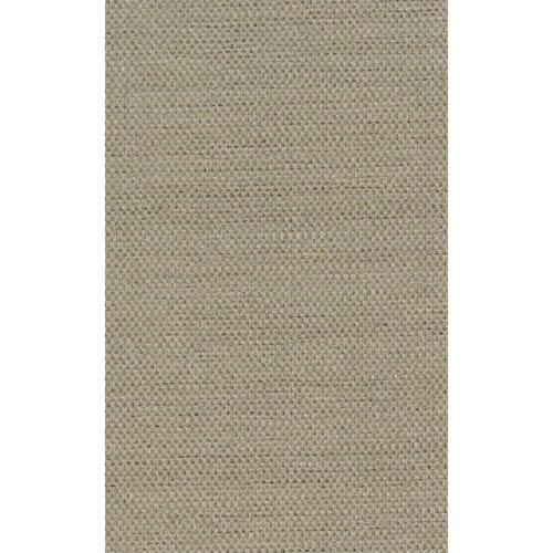 Ronald Redding Designer Resource Metallic Gold and Beige Grasscloth Glitter Woven Wallpaper: Sample Swatch Only