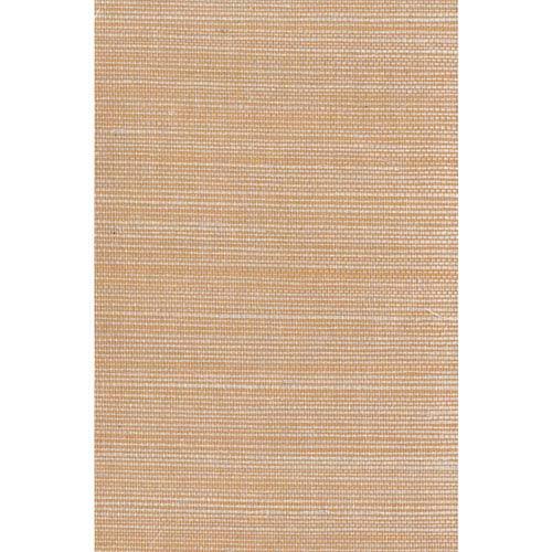 Ronald Redding Designer Resource Peach and Cream Grasscloth Sisal Wallpaper