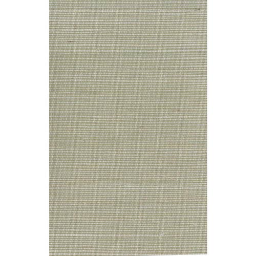 Ronald Redding Designer Resource Pale Green and Beige Grasscloth Sisal Wallpaper: Sample Swatch Only