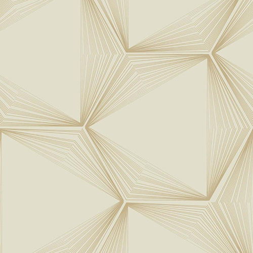 Candice Olson Journey Gold Honeycomb Wallpaper