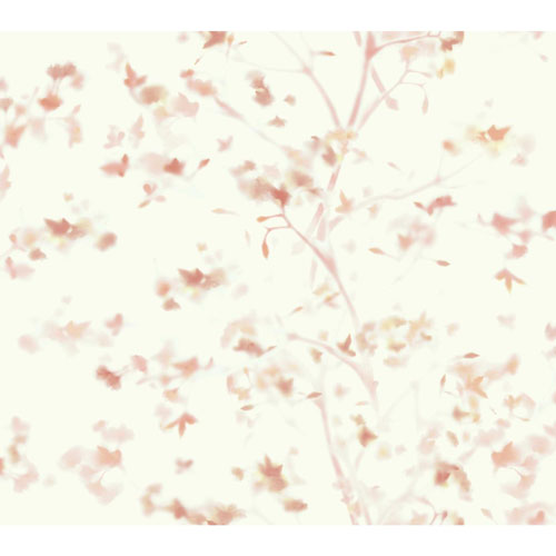 York Wallcoverings Outdoors In Sunlit Branches Peach Wallpaper