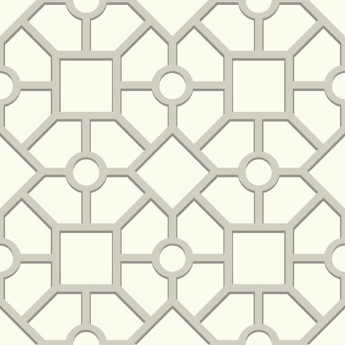 Outdoors In Hedgerow Trellis Grey Wallpaper - SAMPLE SWATCH ONLY