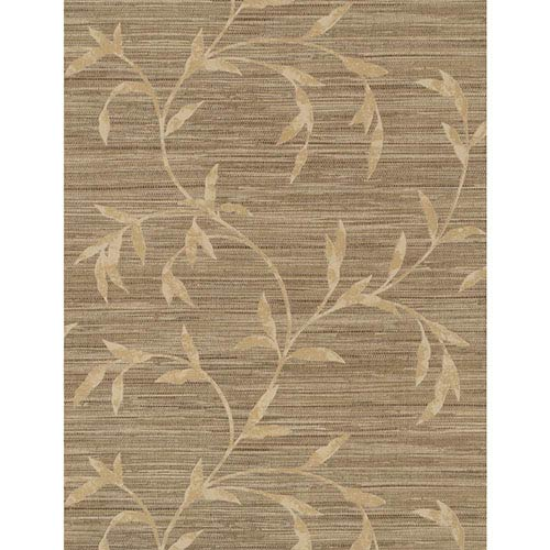 York Wallcoverings Weathered Finishes Dusted Grey Vine Scroll Wallpaper: Sample Swatch Only