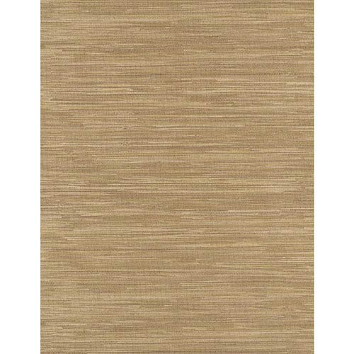 York Wallcoverings Weathered Finishes Bamboo Brown Grass cloth Wallpaper: Sample Swatch Only