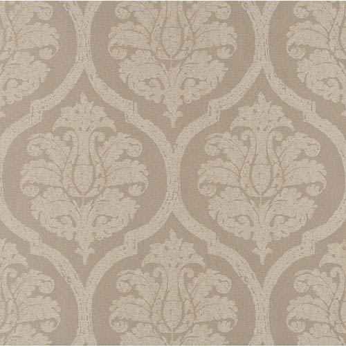 York Wallcoverings Weathered Finishes Milk Chocolate Leather Damask Wallpaper: Sample Swatch Only