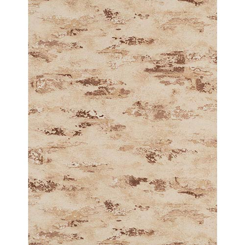 York Wallcoverings Weathered Finishes Cream and Tan Stucco Wallpaper: Sample Swatch Only
