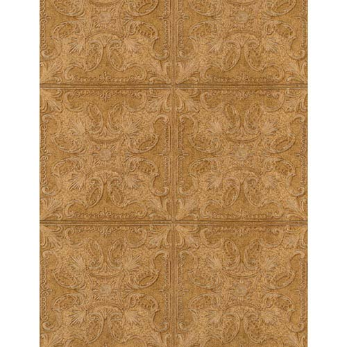 York Wallcoverings Weathered Finishes Greystone Tin Tile Wallpaper: Sample Swatch Only