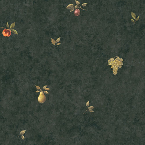 Europa II Vintage Fruit Prepasted Wallpaper: Sample Swatch Only