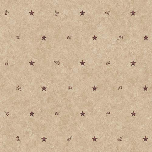 York Wallcoverings Inspired by Color Khaki and Burgundy Barn Star Wallpaper