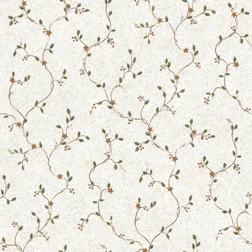 York Wallcoverings Inspired by Color Off White Mini Star Vine Wallpaper: Sample Swatch Only