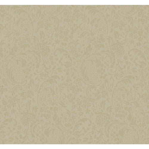 York Wallcoverings Hyde Park Light Bronze and Cocoa Wallpaper: Sample Swatch Only