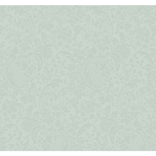 York Wallcoverings Hyde Park Sea Spray Blue and Caribbean Blue Wallpaper: Sample Swatch Only